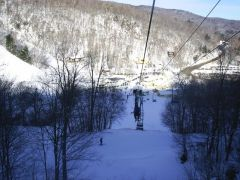 Single Chair @ Mad River Glen, VT (looking at base)