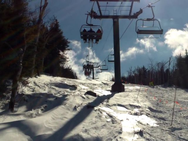 Wildcat Express Looking Up the Lift Line